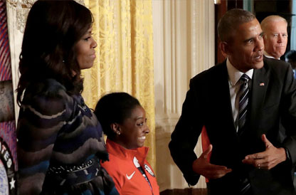 The U.S. Women's Gymnastics Team Geeks Out at the White House