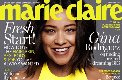 Gina Rodriguez Covers January 2017 Issue of Marie Claire